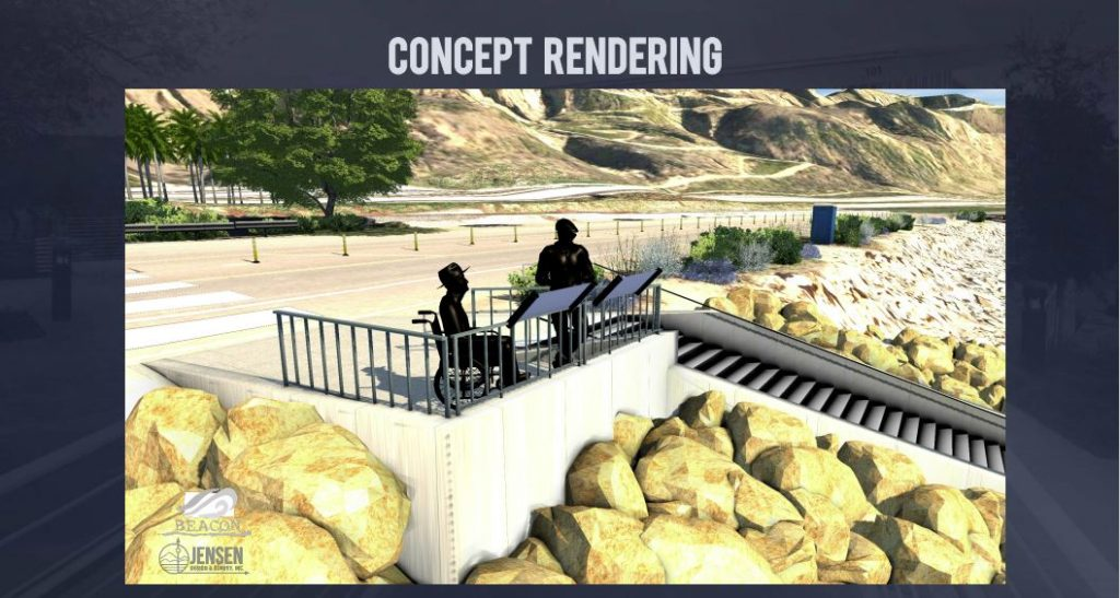 Mondo's Cove beach stairway project art rendering