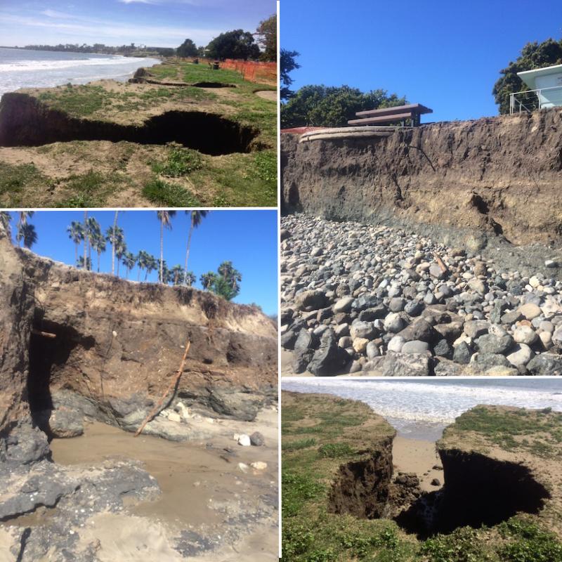 montage of beach damage