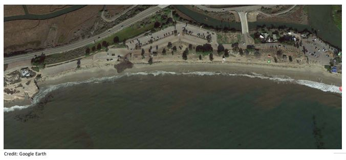 photo of overhead view of beach