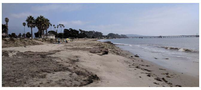 photo of beach damage at Carpinteria beach