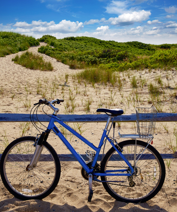 Photo of bicycle on sand